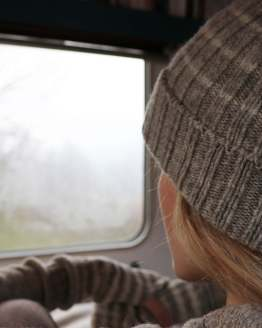 bonnet gris en laine