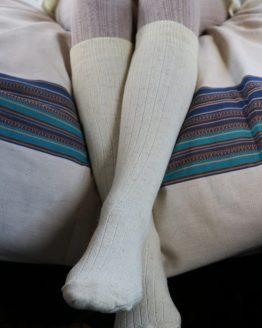 chaussettes montantes pure laine bio france