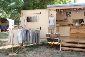 Caravane boutique laine Made in France