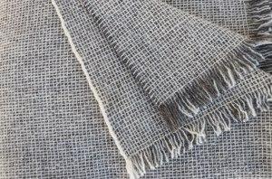 Plaid artisanal pure laine