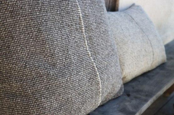 Décoration housses coussin artisanale laine