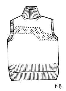 Dessin pullover à tricoter laine bio
