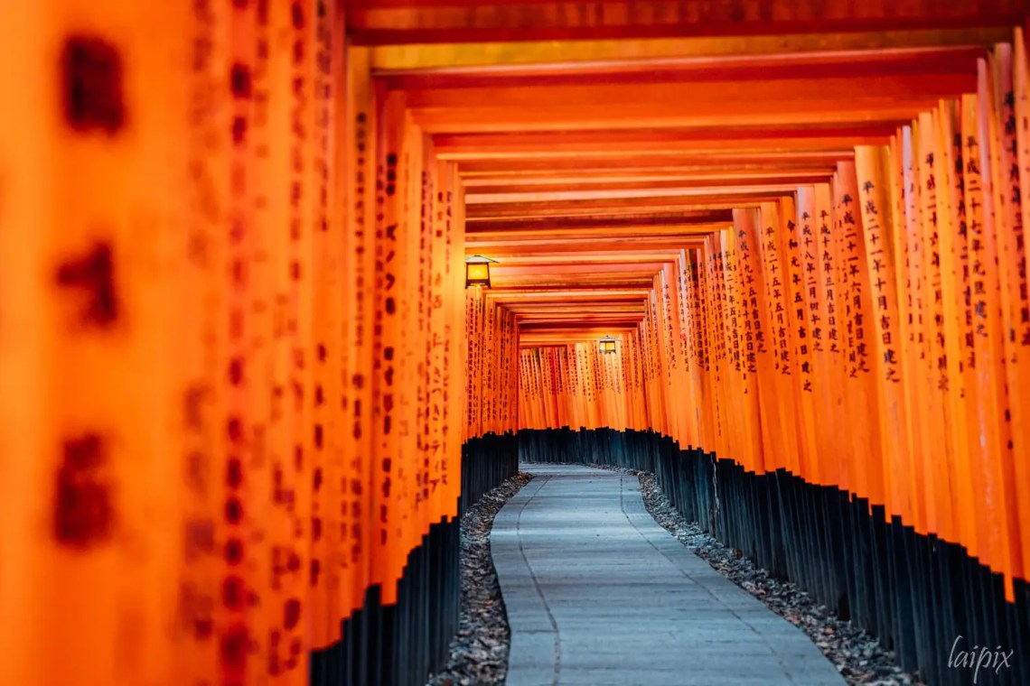 Fushimi Inari Torii Gang Japan Kyoto
