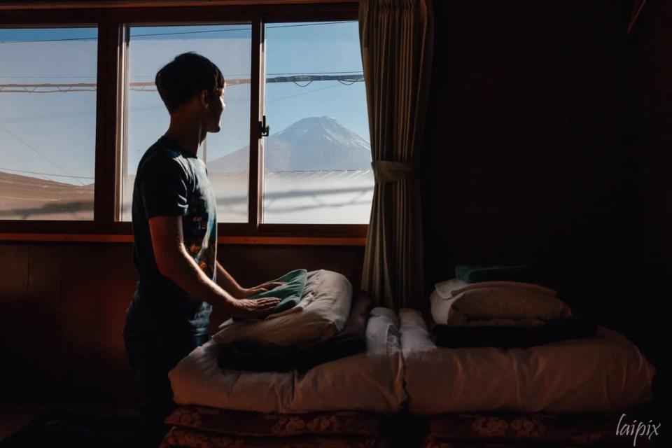 Ryokan Futon Zimmer mit Fuji Blick Japan Tipps Fotoreisen