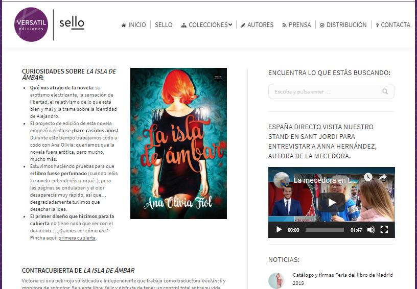 Ficha en Editorial Versátil