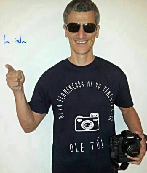 Camiseta para el fotógrafo más flamenco