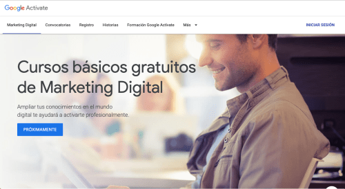 Curso de Google Actívate: Marketing Digital.