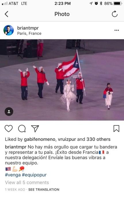 Mensaje de apoyo de Brian Afanador a Charles Flahert. (Instagram)