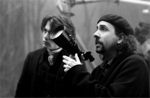 Tim Burton sur le tournage de Sleepy Hollow 1999