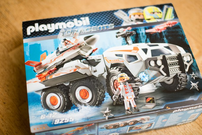 playmobil top agents navette 9255