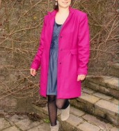 Manteau rose Burda
