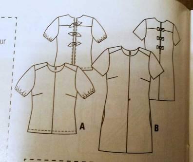 Top Burda couture facile à noeuds