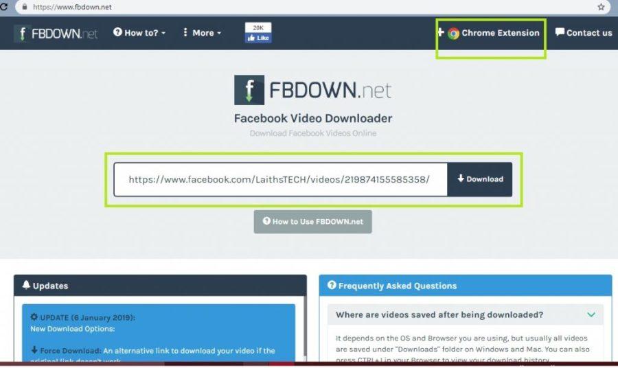 Laiths Tech كيفية تحميل فيديو من الفيسبوك بدون برامج