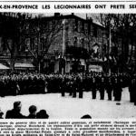 Les légionnaires prêtent serment... devant le Mondial Bar et la place Maréchal Pétain