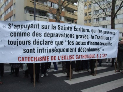"Based on the Holy scriptures, which depict them as grave depravations, Tradition has always declared that ""homosexual acts are intrinsically immoral.""Photo: Sasha Papazoff for La Jeune Politique"