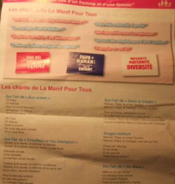 A Pamphlet with Songs and Slogans for Protest.Photo: Sasah Papazoff for La Jeune Politique