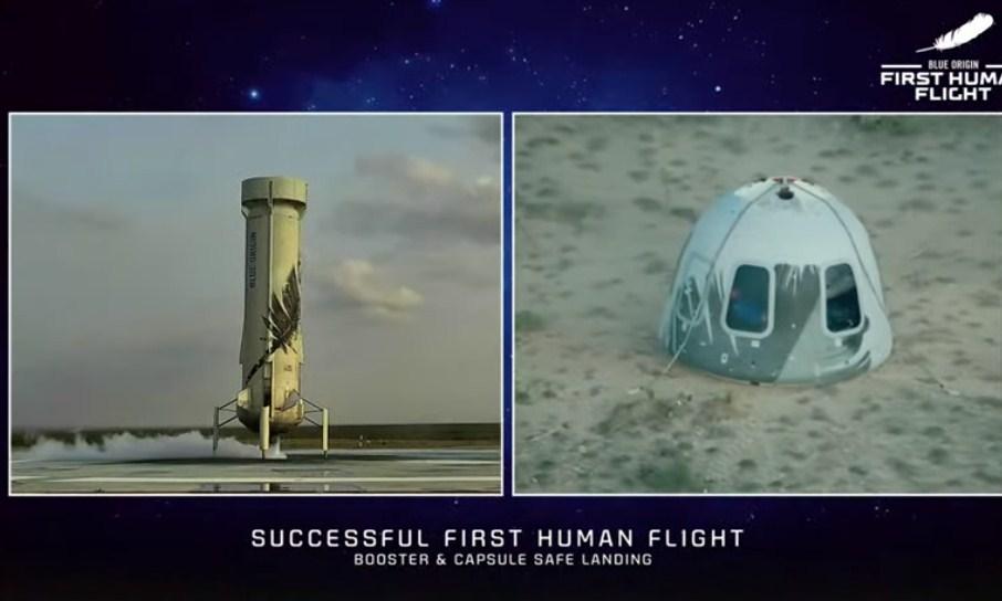 """""""Touchdown""""/ Bezos dhje ekipi mbërrijnë në tokë me sukses pas udhëtimit 10 minuta në hapësirë"""