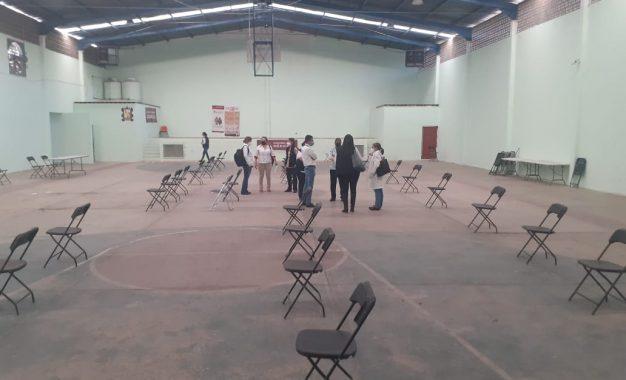 En el Auditorio Municipal de Mexquitic se instalarán los puntos de vacunación. Foto: César Rivera