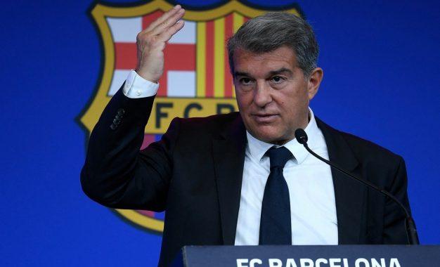 El presidente del Barcelona, Joan Laporta. Foto: Afp / Archivo