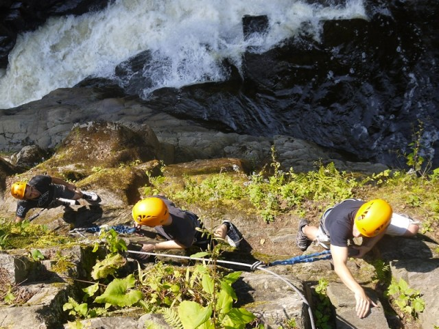 first date a quebec - via ferrata