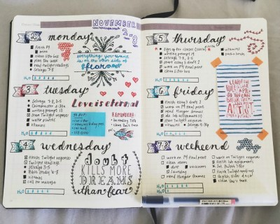 bullet Journal daily planner