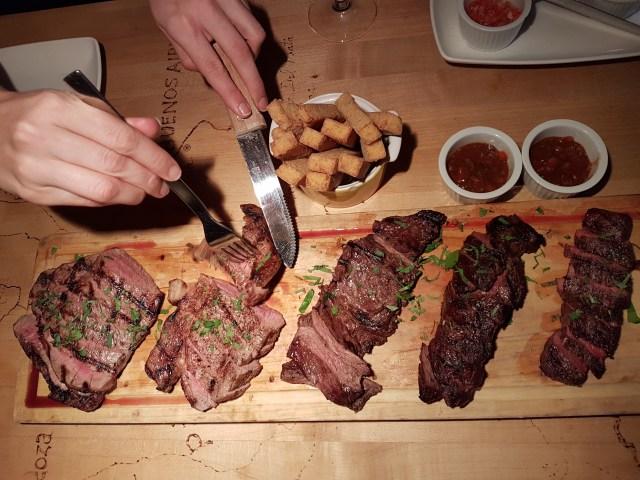Atelier d'Argentine, coupes de viande