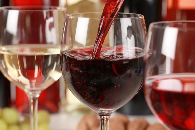 Dégustation de vins, verres