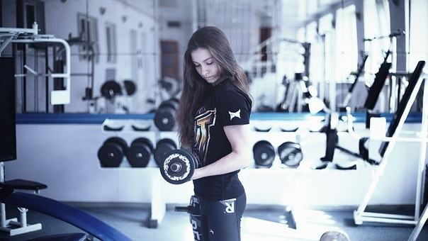 motivation gym, femme poids