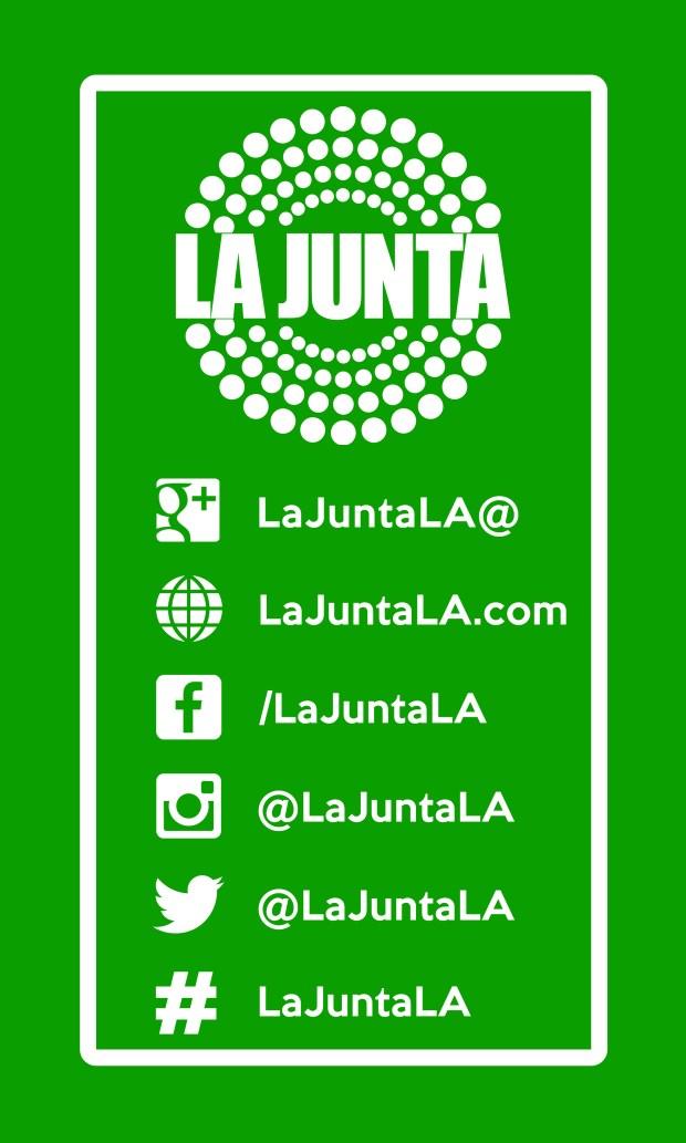 LA JUNTA Business Card 2018 BACKgrn
