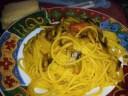 Spaghetti curcuma e funghi