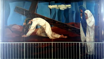 1955-56 Vicente Manansala & Ang Kuikok - Stations of the Cross III: Jesus falls the first time