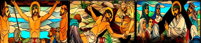 Stations of the Cross: Jesus speaks to the Women of Jerusalem, Jesus is Nailed to the Cross, & The Two Thieves