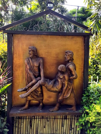 Garden of the Stations of the Cross: Jesus is buried