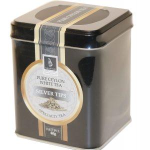 CEYLON TEA - SILVER TIPS 40G IN A CADDY