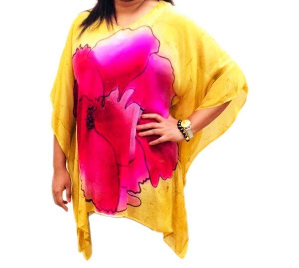batik silk blouse