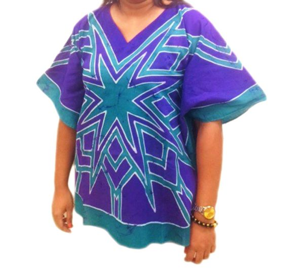 Batik Cotton Poncho 19