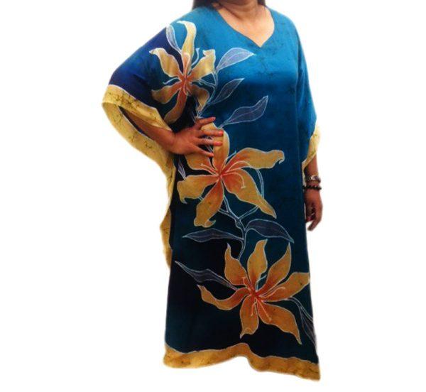 Batik Silk Kaftan 22
