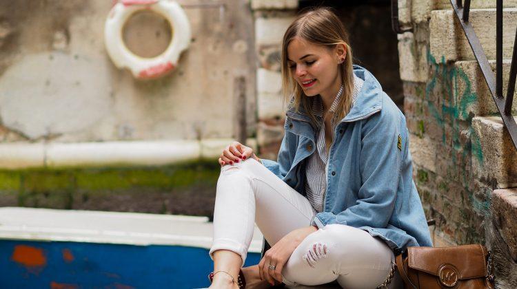 Outfit – Das Blogger Lookbook die Jeansjacke die perfekte Übergangsjacke