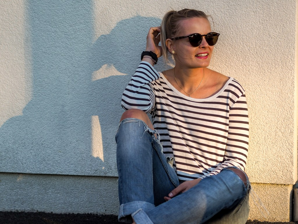 Boyfriend Jeans, Casual Sunday, Streetlook, Birkenstock, Stripes