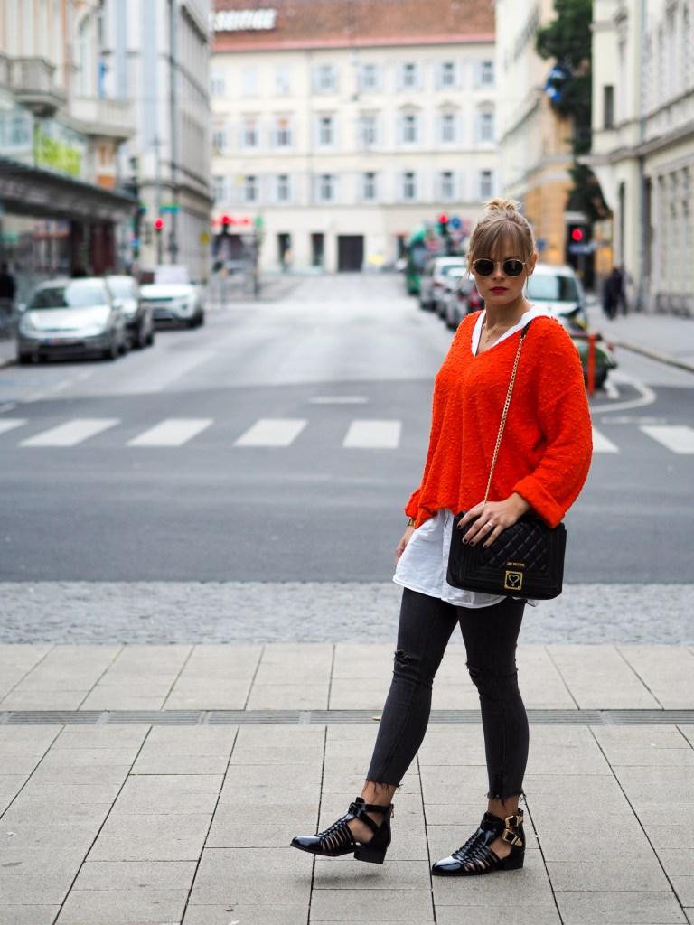 Fashionblog, Herbstlook, Streetstyle, Fashion, Orange, Boots, Lakatyfox, fashionblogger, outfit, layering, blond