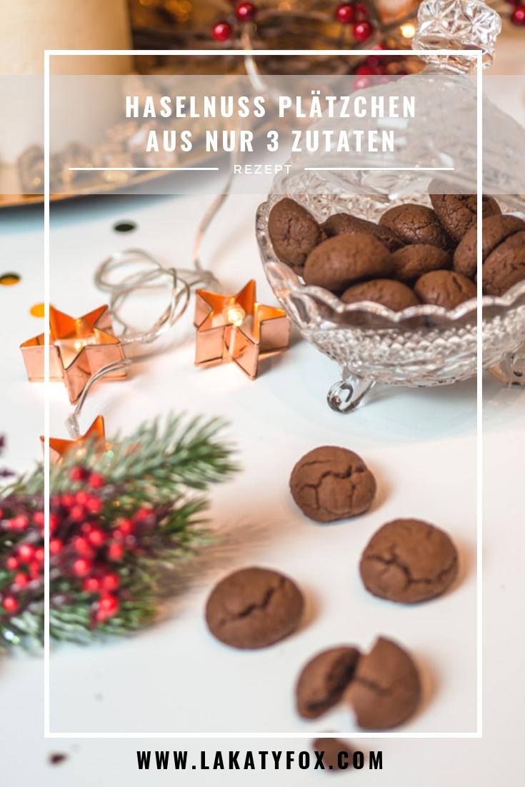 Weihnachtskekse, Nutellakekse, Kekse backen, Kekserezpet, Weihnachtsbäckerei, Haselnuss Plätzchen, www.lakatyfox.com