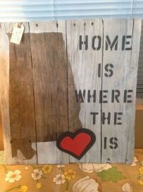 Barn Wood Sign - Home is Where the Heart is
