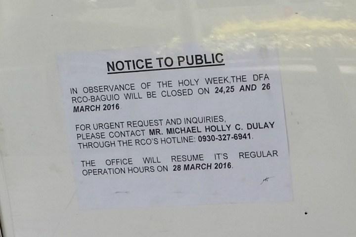 dfa-baguio-schedule-holy-week