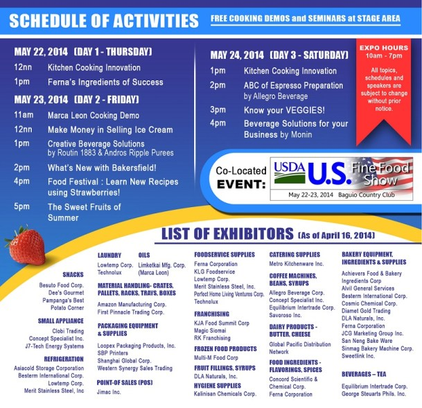WOFEX Northern Luzon Schedule and List of Exhibitors