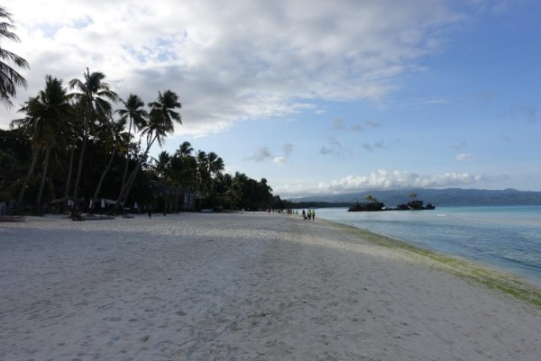 Boracay White Beach on the first day of the closure