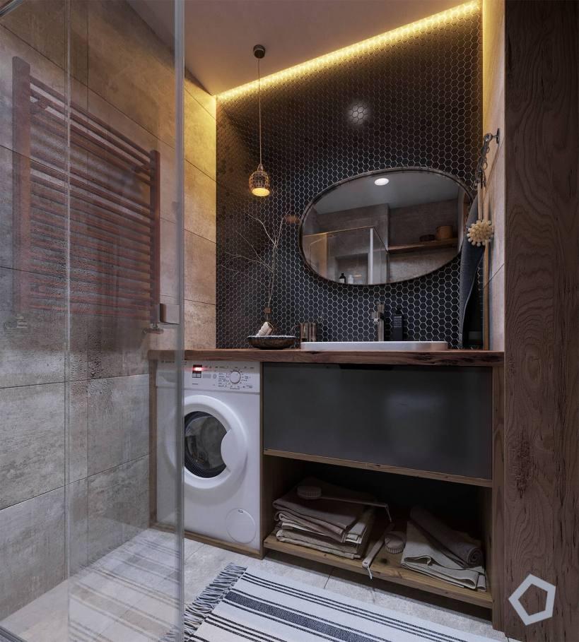 Супер дизайн интерьера на 29м2, креативный, стильный и очень практичный дизайн маленькой квартиры