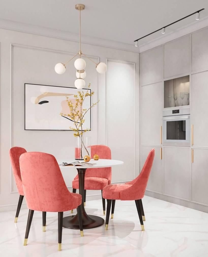 Небольшая квартира с отдельной спальней и гардеробной, практичная планировка с просторной кухней - столовой.