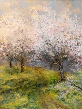 Apple Orchard - Impressionist Art by Laurette Carroll