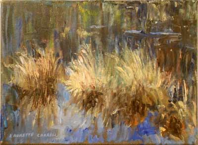Autumn Sedges - Impressionist Art by Laurette Carroll