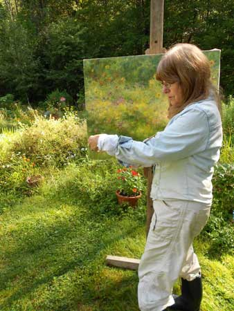Laurette Carroll with Painting